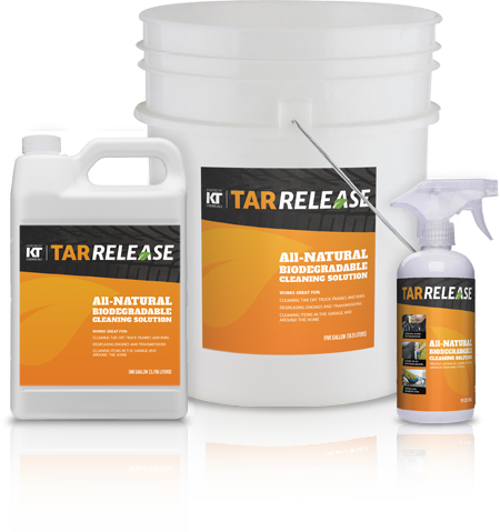 Tar Release in 12 oz, 1 GAL and 5 GAL containers